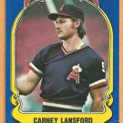 CALIFORNIA ANGELS CARNEY LANSFORD 1981 FLEER STAR STICKER CARD # 12
