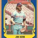 TEXAS RANGERS JIM KERN 1981 FLEER STAR STICKER CARD # 18