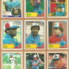 1983 Topps Montreal Expos Team Lot 24 Andre Dawson Gary Carter Tim Rains Francona Al Oliver Reardon