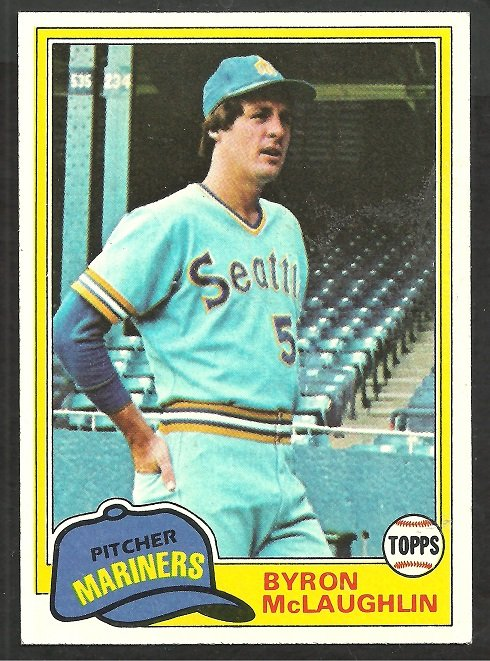 Seattle Mariners Byron McLaughlin 1981 Topps Baseball Card # 344 nr mt