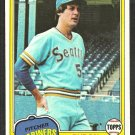 Seattle Mariners Byron McLaughlin 1981 Topps Baseball Card # 344 nr mt