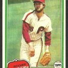 Philadelphia Phillies Larry Christenson 1981 Topps Baseball Card # 346 nr mt