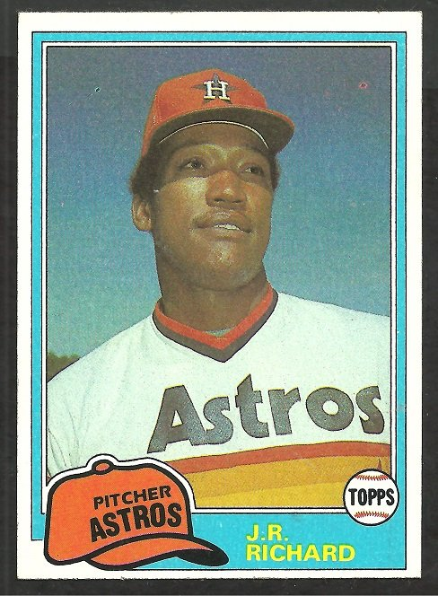 Houston Astros J.R. Richard 1981 Topps Baseball Card # 350 nr mt