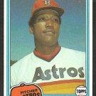Houston Astros J.R. Richard 1981 Topps Baseball Card # 350 nr mt
