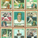 1983 Topps San Diego Padres Team Lot Templeton Bonilla Salazar Wiggins RC Eric Show RC Dravecky RC