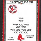 Boston Red Sox Fenway Park Photo on 2006 Voided Season Ticket