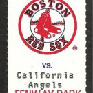 California Angels Boston Red Sox 1995 Fenway Park Unused Ticket Tim Naehring HR Tim Wakefield