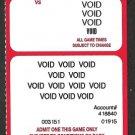 2003 Boston Red Sox Manny Ramirez Photo on Voided Season ticket