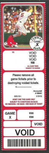 2003 Boston Red Sox Nomar Garciaparra Photo on Voided Season ticket
