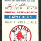 Toronto Blue Jays Boston Red Sox 1984 Unused Ticket Wade Boggs Dwight Evans Gedman Mosby Johnson hr