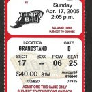 Tampa Bay Rays Boston Red Sox 2005 Ticket Renteria hr Carl Crawford Scott Kazmir