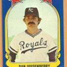 Kansas City Royals Dan Quisenberry 1981 Fleer Star Sticker Baseball Card # 24