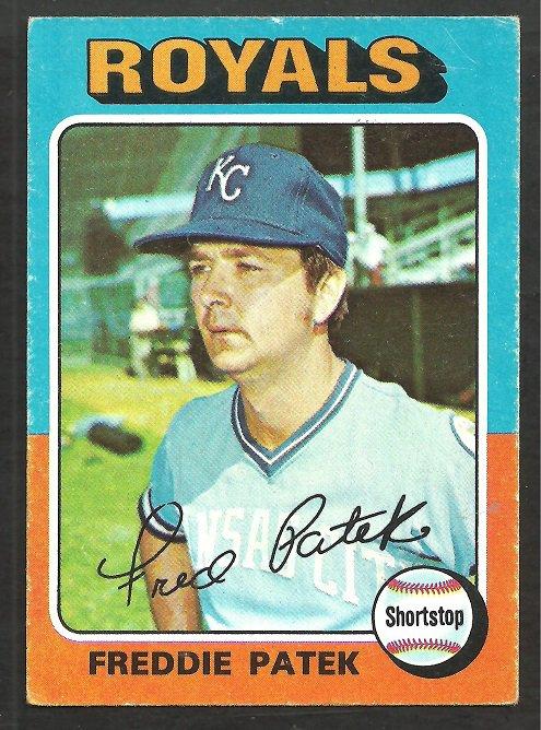 Kansas City Royals Freddie Patek 1975 Topps Baseball Card # 48 vg/ex