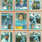 Kansas City Royals Team Lot 1983 Topps George Brett Frank White Amos Otis Dick Howser Larry Gura