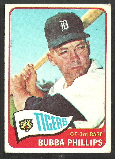 Detroit Tigers Bubba Phillips 1965 Topps Baseball Card # 306 vg/ex