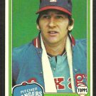 Texas Rangers Charlie Hough 1981 Topps Baseball Card # 371 nr mt