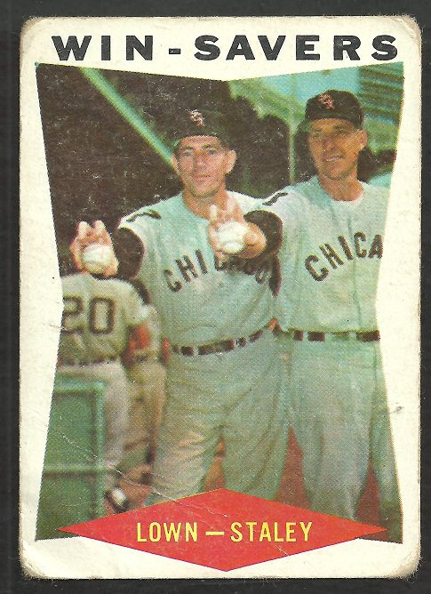 Chicago White Sox Win Savers Turk Lown Jerry Staley 1960 Topps Baseball Card # 57 fair/good