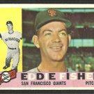 San Francisco Giants Eddie Fisher 1960 Topps Baseball Card # 23