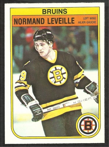 Boston Bruins Normand Leveille RC Rookie Card 1982 O-Pee-Chee OPC Hockey Card 13