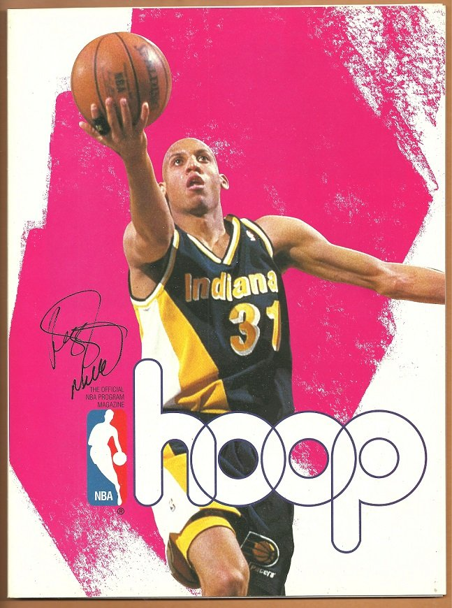 1995 Hoop Official NBA Program Indiana Pacers Reggie Miller Boston Celtics Arena Edition