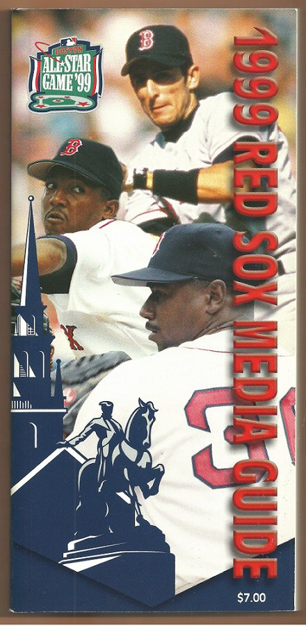 Boston Red Sox 1999 Media Guide Pocket Schedule Pedro Martinez Nomar Garciaparra Flash Gordon