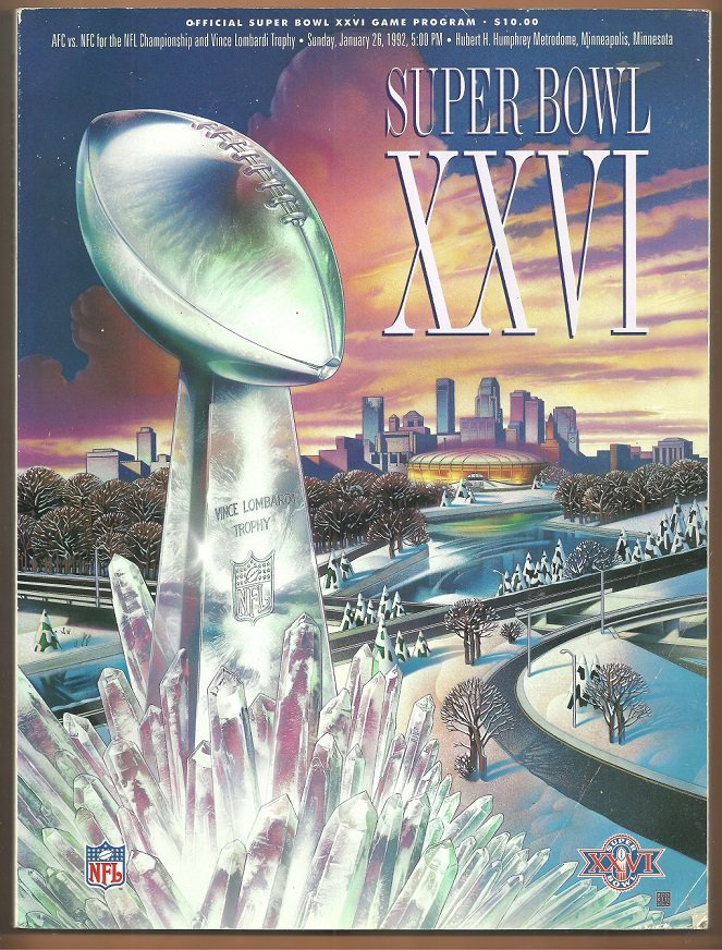 Super Bowl XXXVI Program Limited Edition Stadium Issue Washington Redskins Buffalo Bills