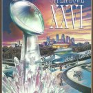 Super Bowl XXXVI Program Limited Edition Stadium Issue Washington Redskins Buffalo Bills