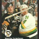Pittsburgh Penguins Mario Lemieux 1991 Pro Set Hockey Card # 194