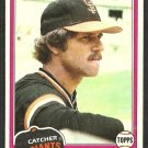 San Francisco Giants Mike Sadek 1981 Topps Baseball Card # 384 nr mt