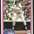 New York Yankees Eric Soderholm 1981 Topps Baseball Card # 383 nr mt