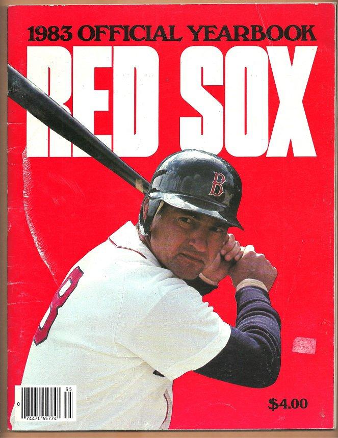 1983 BOSTON RED SOX YEARBOOK CARL YAZ LAST SEASON COVER