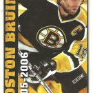 2005 Boston Bruins Pocket Schedule Joe Thornton Patrice Bergeron Glen Murray Sergei Samsonov