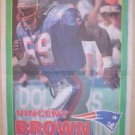 New England Patriots Vincent Brown 1995 Newspaper Poster