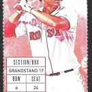 Detroit Tigers Boston Red Sox 2015 Ticket David Ortiz Xander Bogaerts Ed Rodriguez Nick Castellanos