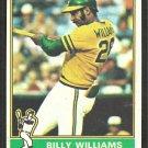Oakland Athletics Billy Williams 1976 Topps Baseball Card # 525  vg