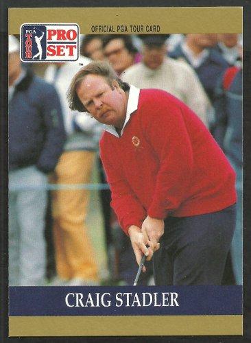 Craig Stadler 1990 Pro Set PGA Tour Golf Card # 61 nm/mt