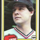 Minnesota Twins Fernando Arroyo 1981 Topps Baseball Card # 408 nr mt