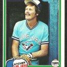 Toronto Blue Jays Ernie Whitt 1981 Topps Baseball Card # 407 nr mt