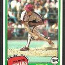 Philadelphia Phillies Dickie Noles 1981 Topps Baseball Card # 406 nr mt