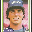 Chicago White Sox Ross Baumgarten 1981 Topps Baseball Card # 398 nr mt