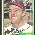 Milwaukee Braves Hank Fischer 1965 Topps Baseball Card # 585 vg