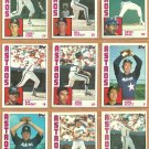 1984 Topps Houston Astros Team Lot Jose Cruz Mike Scott Terry Puhl Ray Knight Art Howe Joe Niekro