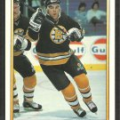 Boston Bruins Wes Walz Rookie Card RC 1990 O Pee Chee Premier OPC Hockey Card # 127