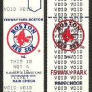 1989 and 1990 Voided Boston Red Sox Tickets