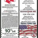 2002 Boston Red Sox Voided Ticket