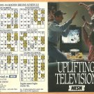 1993 Boston Bruins NESN Cable Network Schedule Flyer