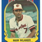 Baltimore Orioles Mark Belanger 1981 Fleer Star Sticker Baseball Card # 39