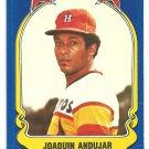Houston Astros Joaquin Andujar 1981 Fleer Star Sticker Baseball Card # 48