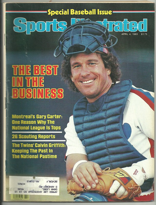 1983 Sports Illustrated Montreal Expos Minnesota Twins Georgia Bulldogs NC State Wolfpack