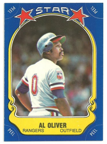 Texas Rangers Al Oliver 1981 Fleer Star Sticker Baseball